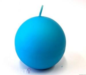 Świeca kula 80  niebieska