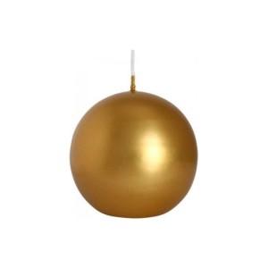 Świeca kula 80 złota metalizowana