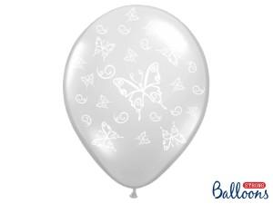 """Balony lateksowe z nadrukiem - Balony lateksowe """"Motylki"""" Crystal Clear / 35 cm"""