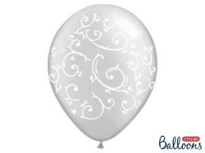 """Balony lateksowe z nadrukiem - Balony lateksowe """"Esy Floresy"""" Crystal Clear / 35 cm - 50 szt"""