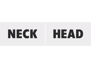 Tabliczki tekturowe Head &Neck
