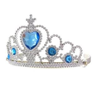 Tiary - Tiara z niebieskimi kamyczkami