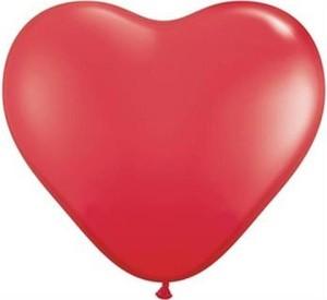 Balony serca pastelowe- czerwone