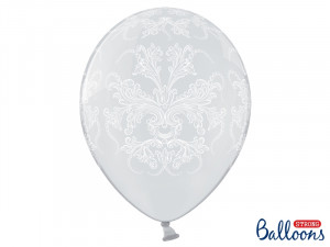 "Balony lateksowe z nadrukiem - Balony lateksowe ""Ornament"" Crystal Clear / 35 cm"