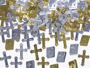 Konfetti metalizowane Krzyże i księgi, 15g