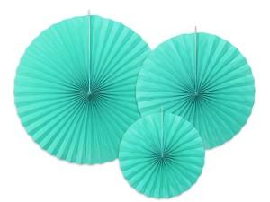 Rozety dekoracyjne, tiffany blue