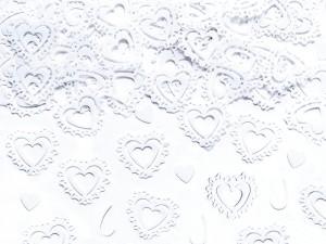 "Konfetti kształty - Konfetti białe ""Serca"" / KONS34-008"