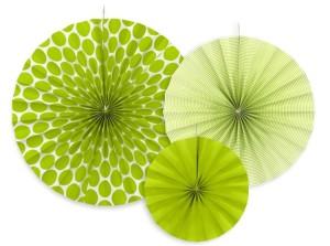 Rozety dekoracyjne - Rozeta dekoracyjna, zielone jabłuszko / średnica 23,32 i 40 cm