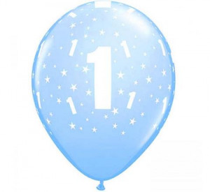Balony lateksowe cyfry i liczby - Balony urodzinowe na Roczek dla chłopca / 17822