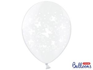 Balony lateksowe z nadrukiem - Balony lateksowe transparentne w Motylki / SB14C-217-099/6