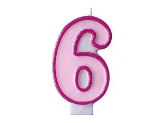 Świeczki urodzinowe dla dziecka, świeczki, 6 urodziny dziecka
