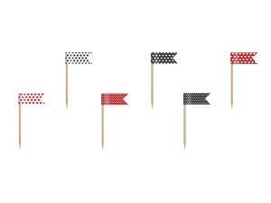 Flagi na piku mini Biedronka, mix, 7cm
