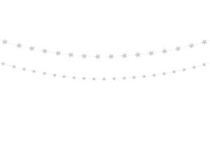 Girlandy kształty - Girlanda Gwiazdy, srebrny