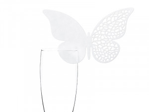 Wizytówki na kieliszki Motyl, 12,5x07,6cm