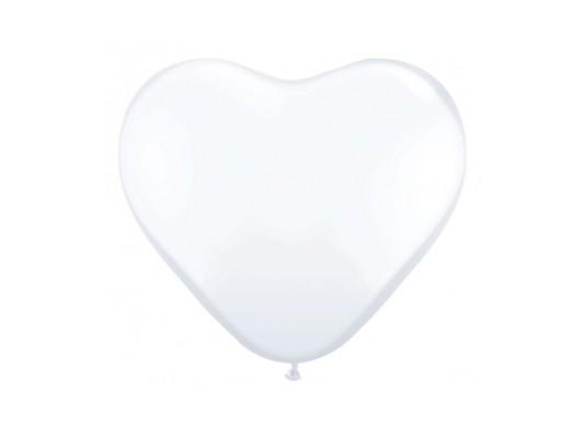"""Balony 10"""" serca pastel biały"""