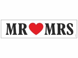 """Tablica rejestracyjna z napisem """"MR MRS"""""""