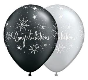 "Balony lateksowe z napisami - Balony Gratulacje ""Congratulations Elegant"""