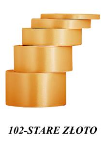 Wstążka satynowa 6mm/32mb stare złoto