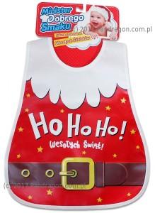 """Śliniaki - Śliniak """"Ho Ho Ho Wesołych Świąt"""""""