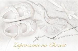 Zaproszenia na Chrzest Święty - Zaproszenia na Chrzest Święty / Z.C6-509