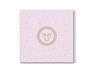 Serwetki Decor komunijne, różowe, 33x33cm