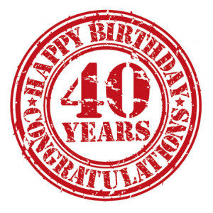 """Serwetki Decor 33x33 """"40 urodziny"""""""