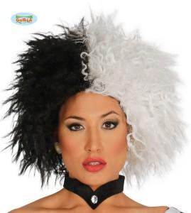 Peruki - Peruka biało/czarna