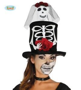 """Kapelusze - Kapelusz na Halloween """"Kobieta Szkielet"""""""