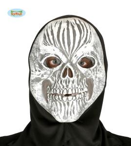 Maska PVC Zakapturzona czaszka