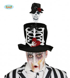 """Kapelusze - Kapelusz na Halloween """"Mężczyzna Szkielet"""""""