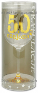 Kieliszek Wine Gold 50