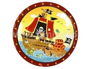 """Talerzyki papierowe 23cm """"Statek Piracki"""""""