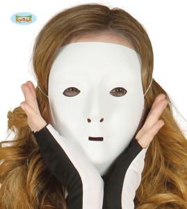 Maski Protestu - Maska PVC biała do samodzielnego dekorowania