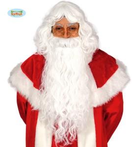 Peruka Świętego Mikołaja Extra z brodą