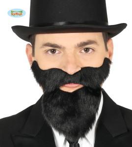 Broda długa z wąsami. Czarna