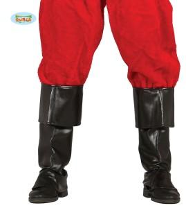 Buty - Czarne nakładki na buty. Święty Mikołaj