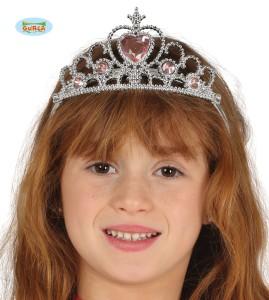 Tiara dziecięca Księżniczka. Srebrna