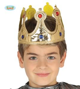 Korona dziecięca Król. Złota