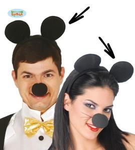 Opaski - Opaska na głowę. Uszy myszki. Czarne