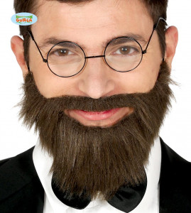 Broda z wąsami z gumką