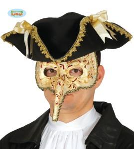 Maski Weneckie - Maska karnawałowa Wenecka z nosem / 12924