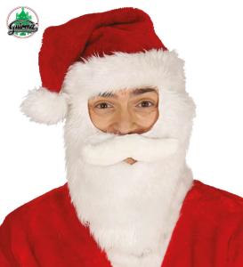 Czapki - Czapka Mikołaja z brodą / 42282