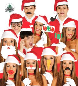 Karteczki i tabliczki do fotobudki - Rekwizyty do fotobudki do Boże Narodzenie
