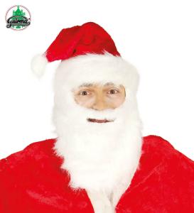 Czapki - Czapka wraz z brodą Święty Mikołaj