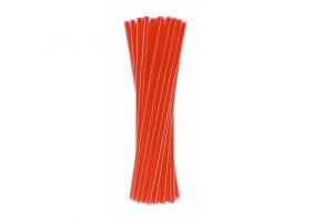 Rurki (słomki) łamane - czerwone paski