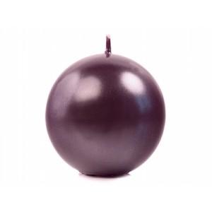 Świeca kula 80 śliwka metalizowana