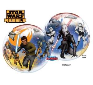 """Balony foliowe z bohaterami bajek - Balon foliowy Bubble """"Gwiezdne Wojny - Star Wars Rebels"""" / 55 cm"""