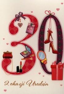 Karnet 30 Urodziny HM-200-1068
