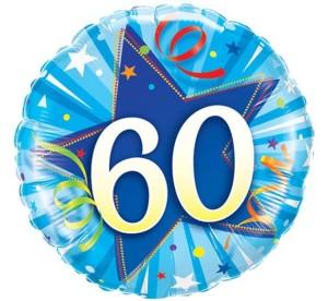 """Balony foliowe na okrągłe urodziny - Balon foliowy okrągły """"Liczba 60"""" / 30276"""