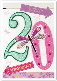 Prezenty na 20 urodziny, kartki, skarbonki, kubki, szklanki